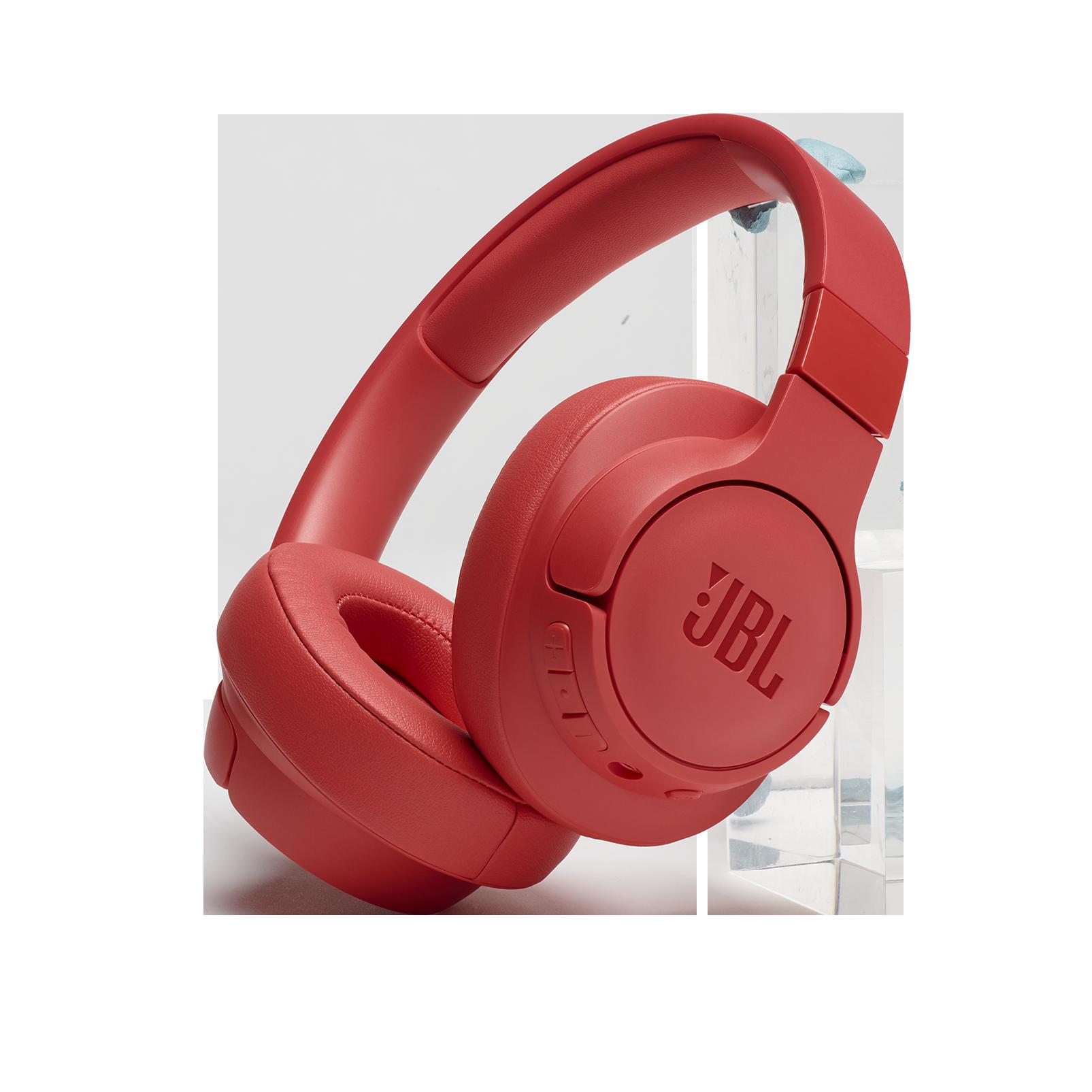 JBL TUNE 700BT - Coral Orange - Wireless Over-Ear Headphones - Hero