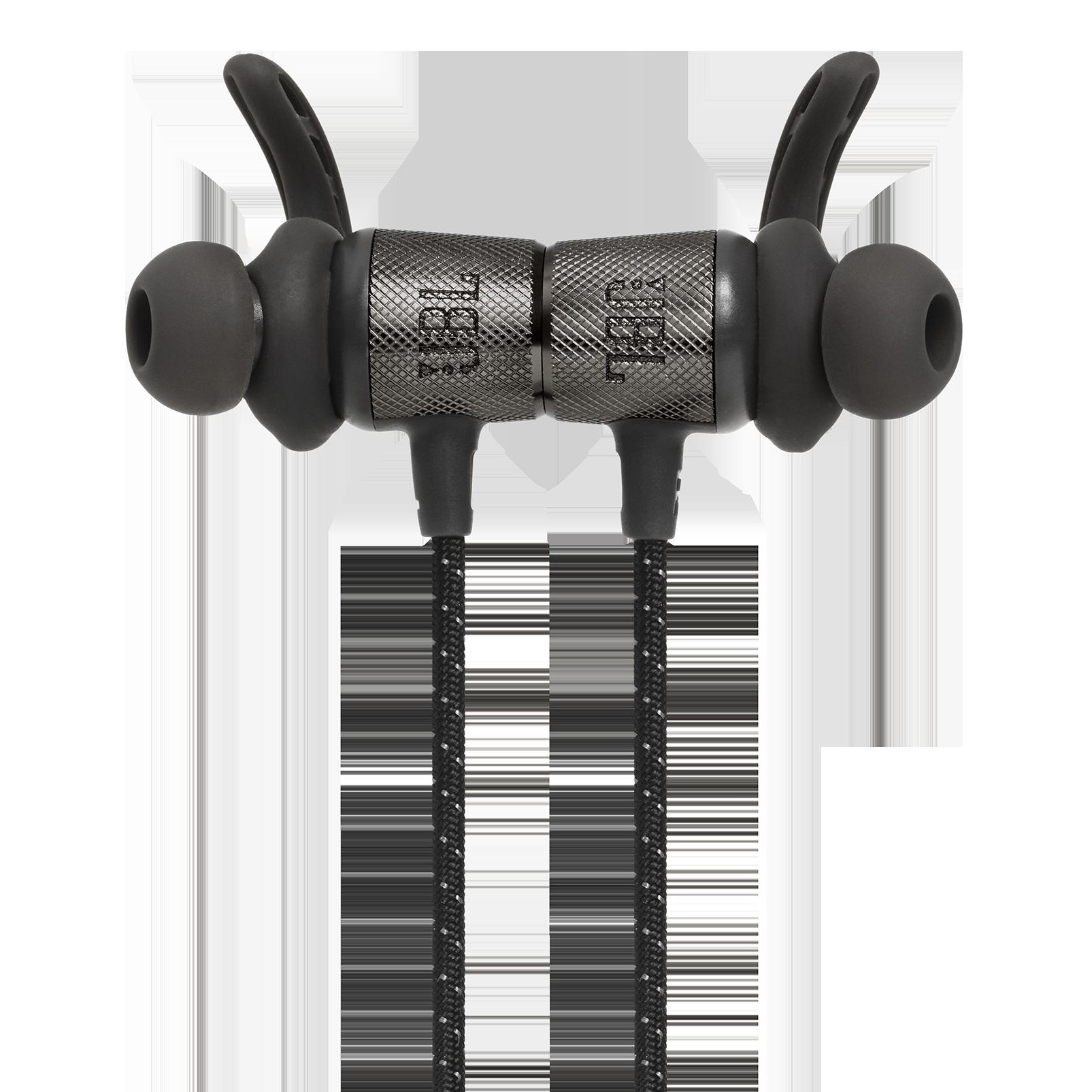 UA Sport Wireless REACT - Black - Secure-fitting wireless sport earphones with JBL technology and sound - Detailshot 1