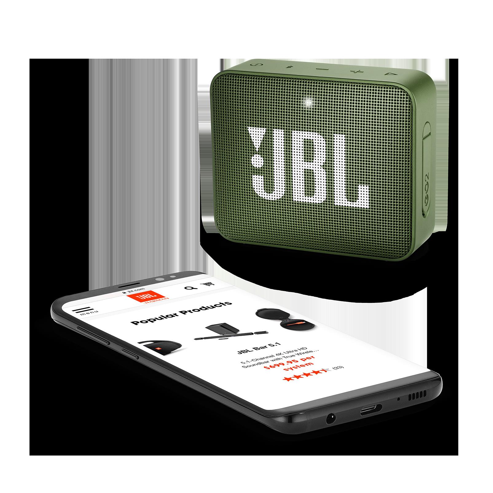 JBL GO 2 - Moss Green - Portable Bluetooth speaker - Detailshot 3