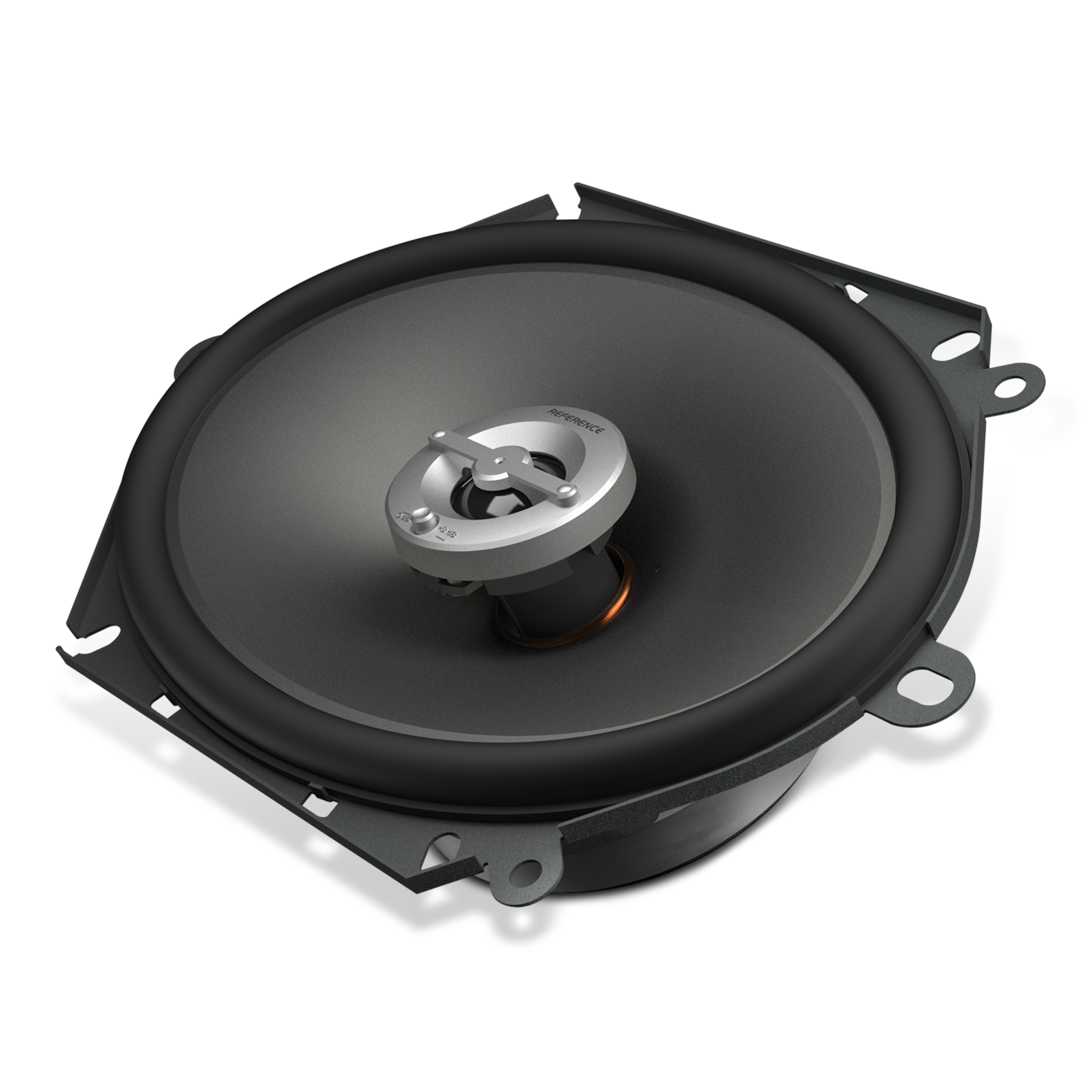 """Reference 8602cfx - Black - A 6"""" x 8"""" / 5"""" x 7"""" custom-fit, two-way, high-fidelity coaxial speaker with true 4-ohm technology - Hero"""