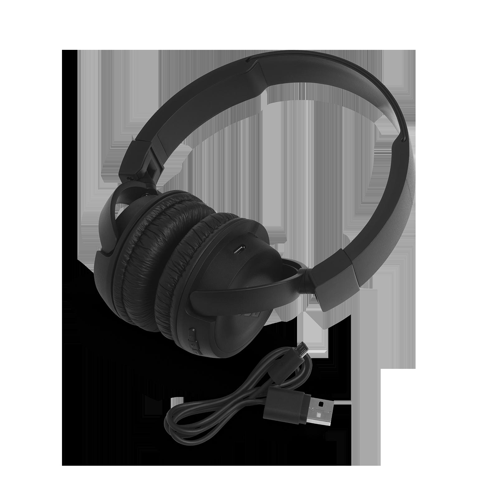 JBL T460BT - Black - Wireless on-ear headphones - Detailshot 2