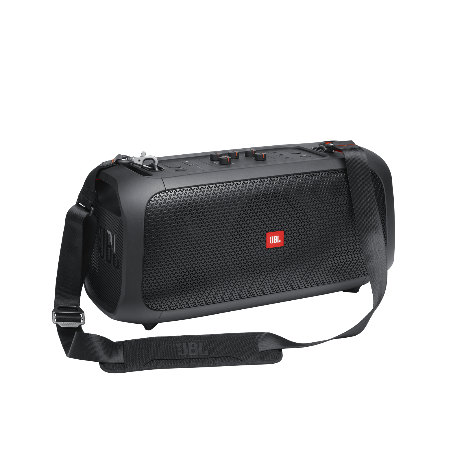 JBL PartyBox On-The-Go - Black - Portable party speaker with built-in lights and wireless mic - Detailshot 7