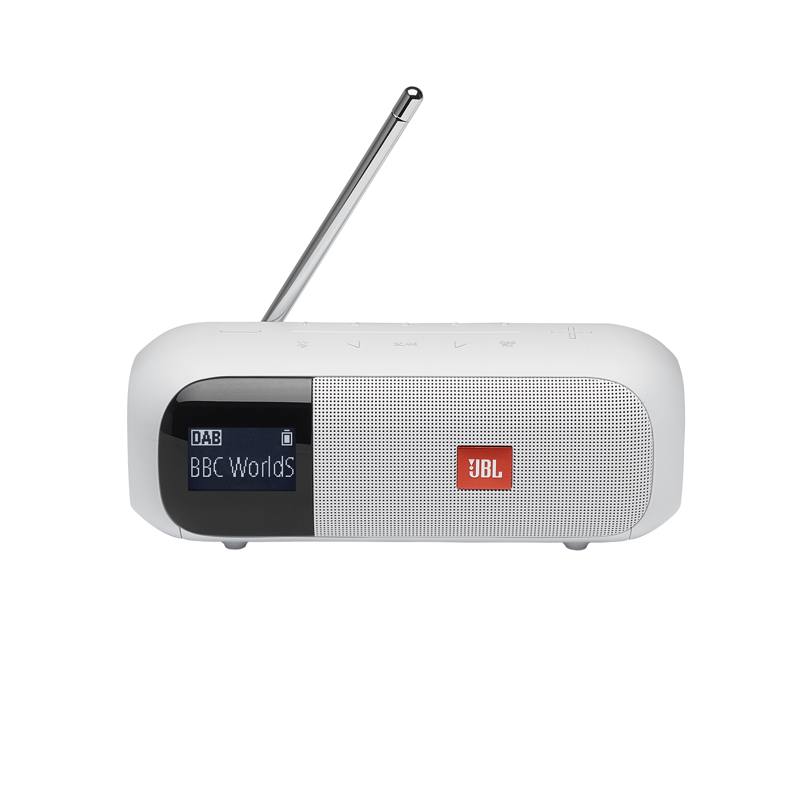 JBL Tuner 2 - White - Portable DAB/DAB+/FM radio with Bluetooth - Front
