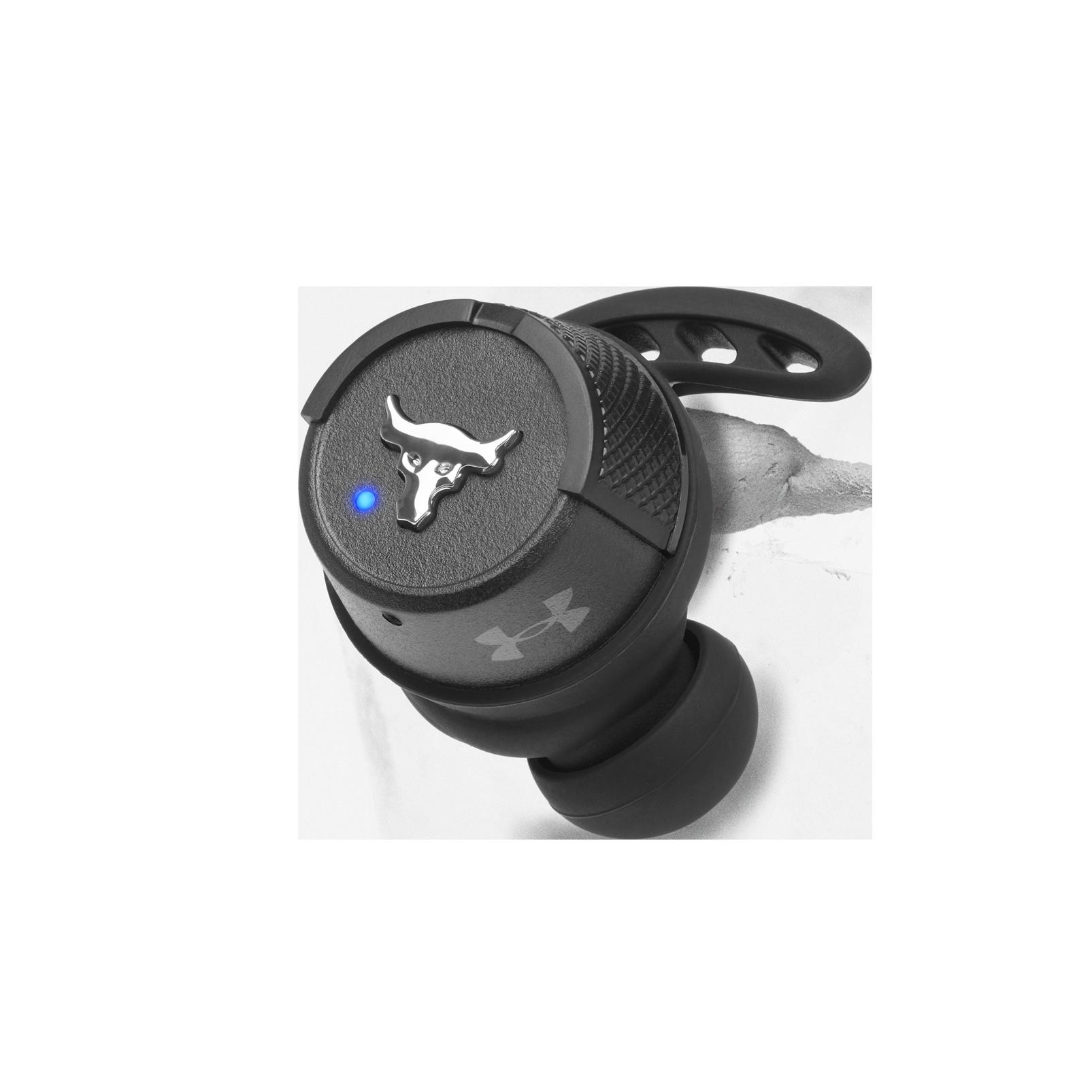 UA Project Rock True Wireless X - Engineered by JBL - Black - In-Ear Sport Headphones - Detailshot 2