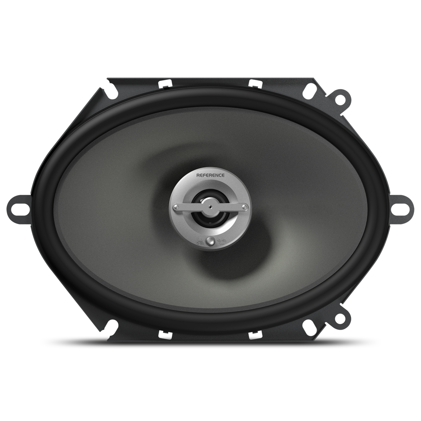 """Reference 8602cfx - Black - A 6"""" x 8"""" / 5"""" x 7"""" custom-fit, two-way, high-fidelity coaxial speaker with true 4-ohm technology - Front"""