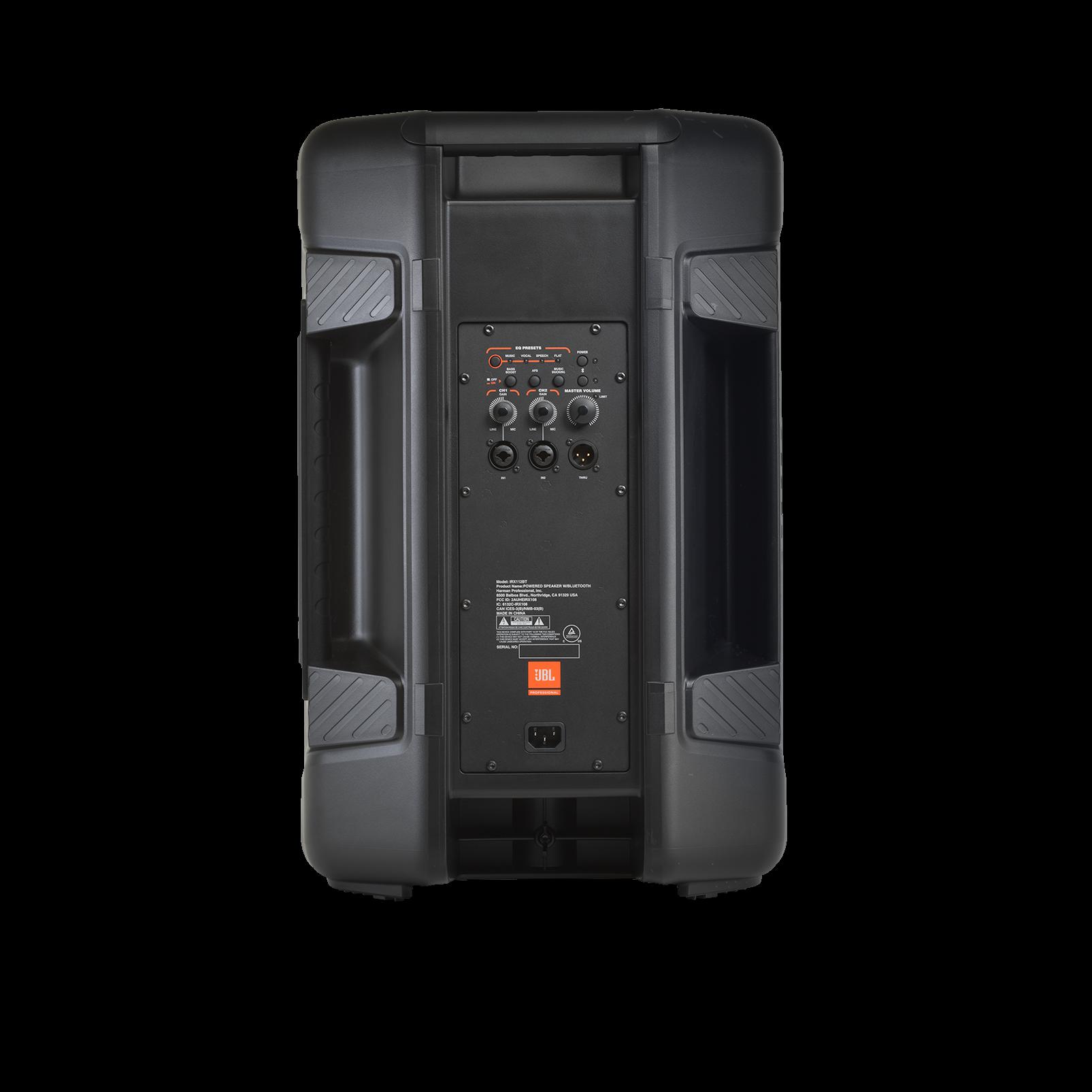 "JBL IRX112BT - Black - Powered 12"" Portable Speaker with Bluetooth® - Back"