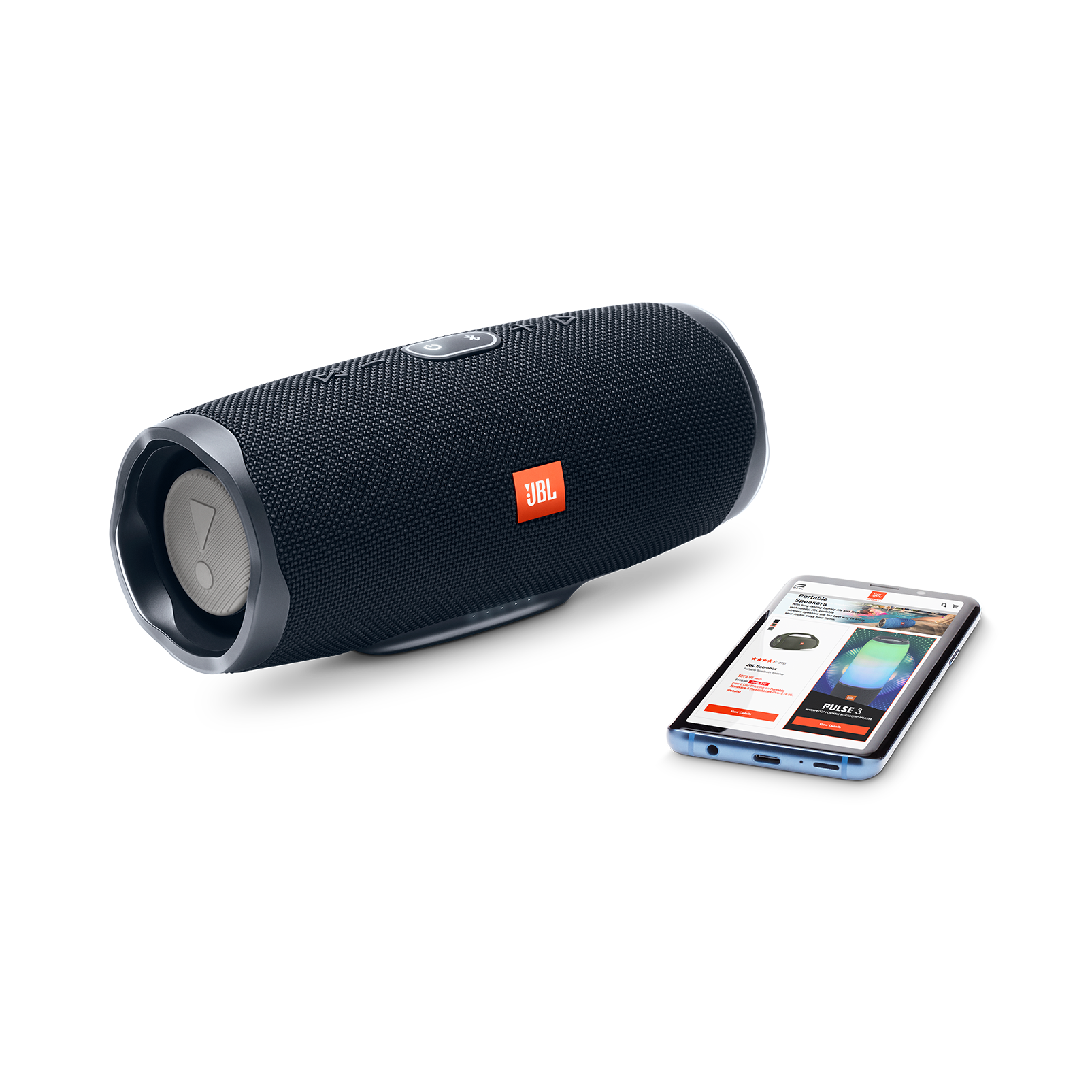 JBL Charge 4 - Black - Portable Bluetooth speaker - Detailshot 4