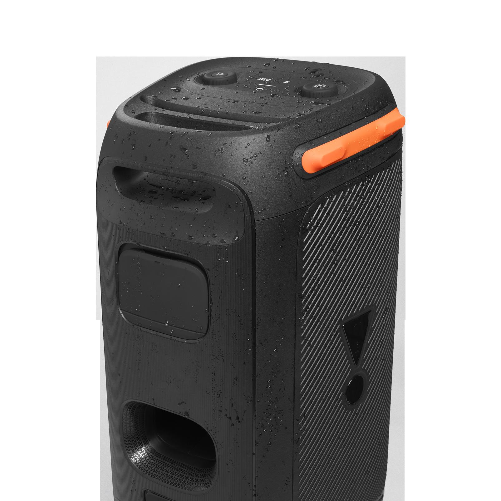 JBL Partybox 110 - Black - Portable party speaker with 160W powerful sound, built-in lights and splashproof design. - Detailshot 6