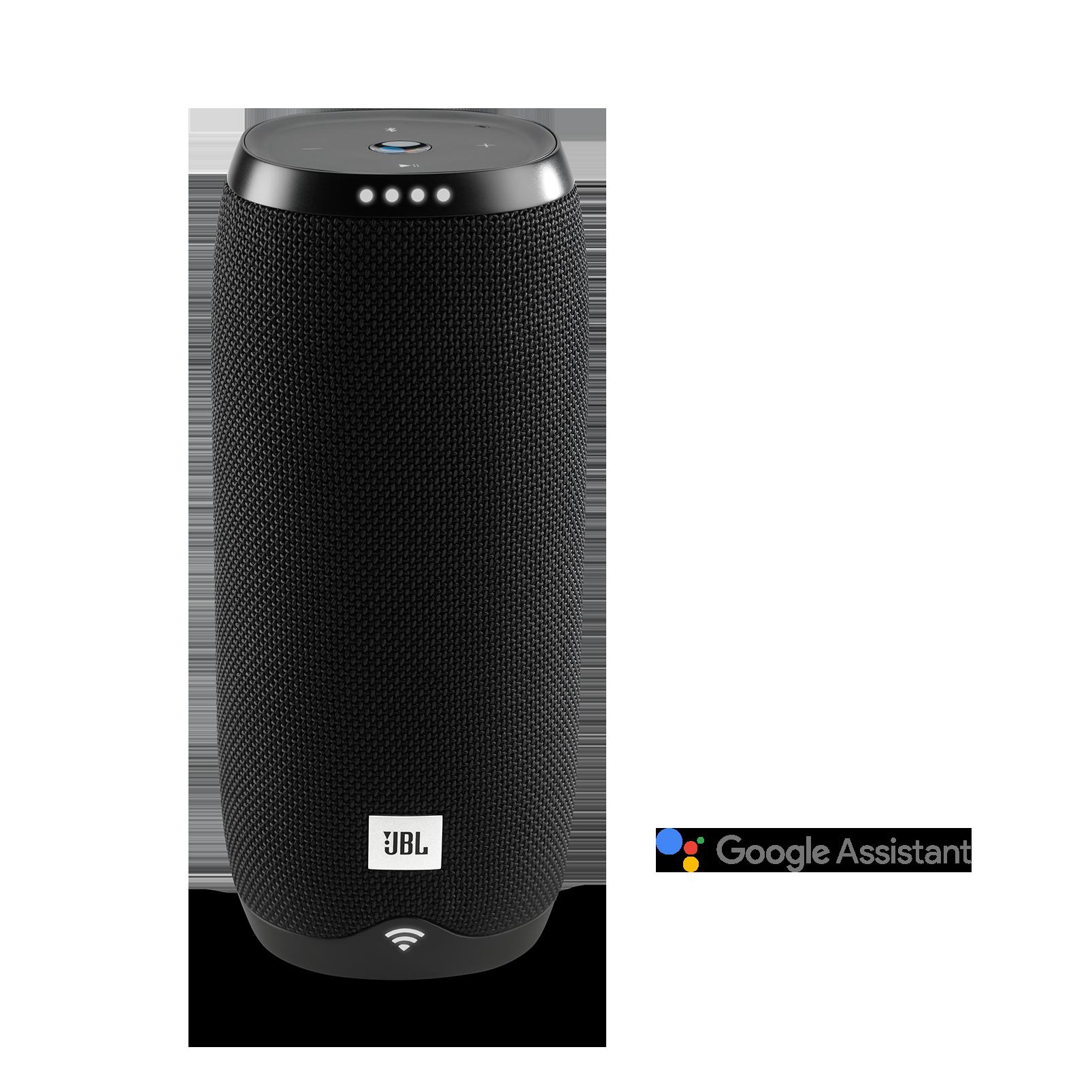 JBL Link 20 - Black - Voice-activated portable speaker - Hero