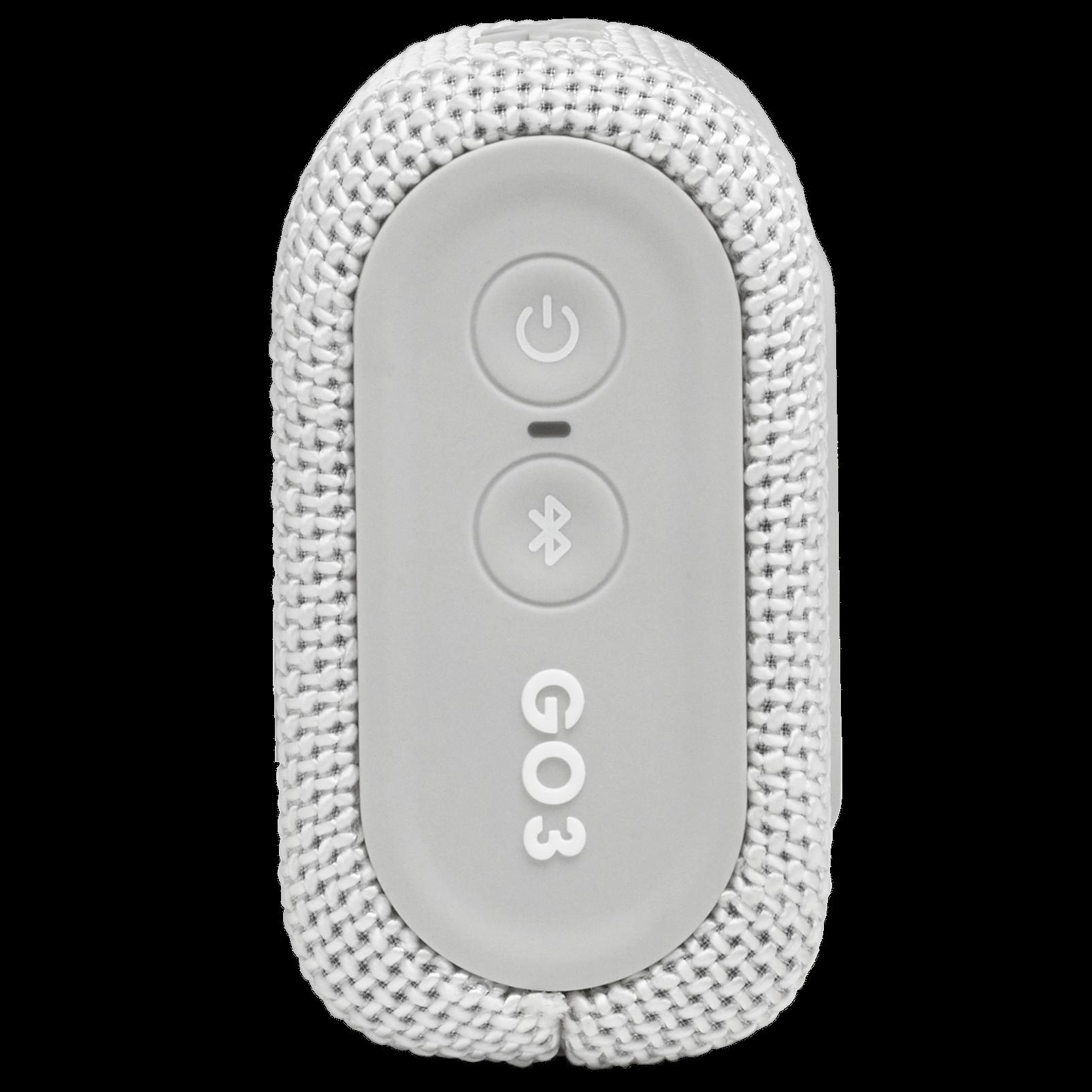 JBL GO 3 - White - Portable Waterproof Speaker - Right