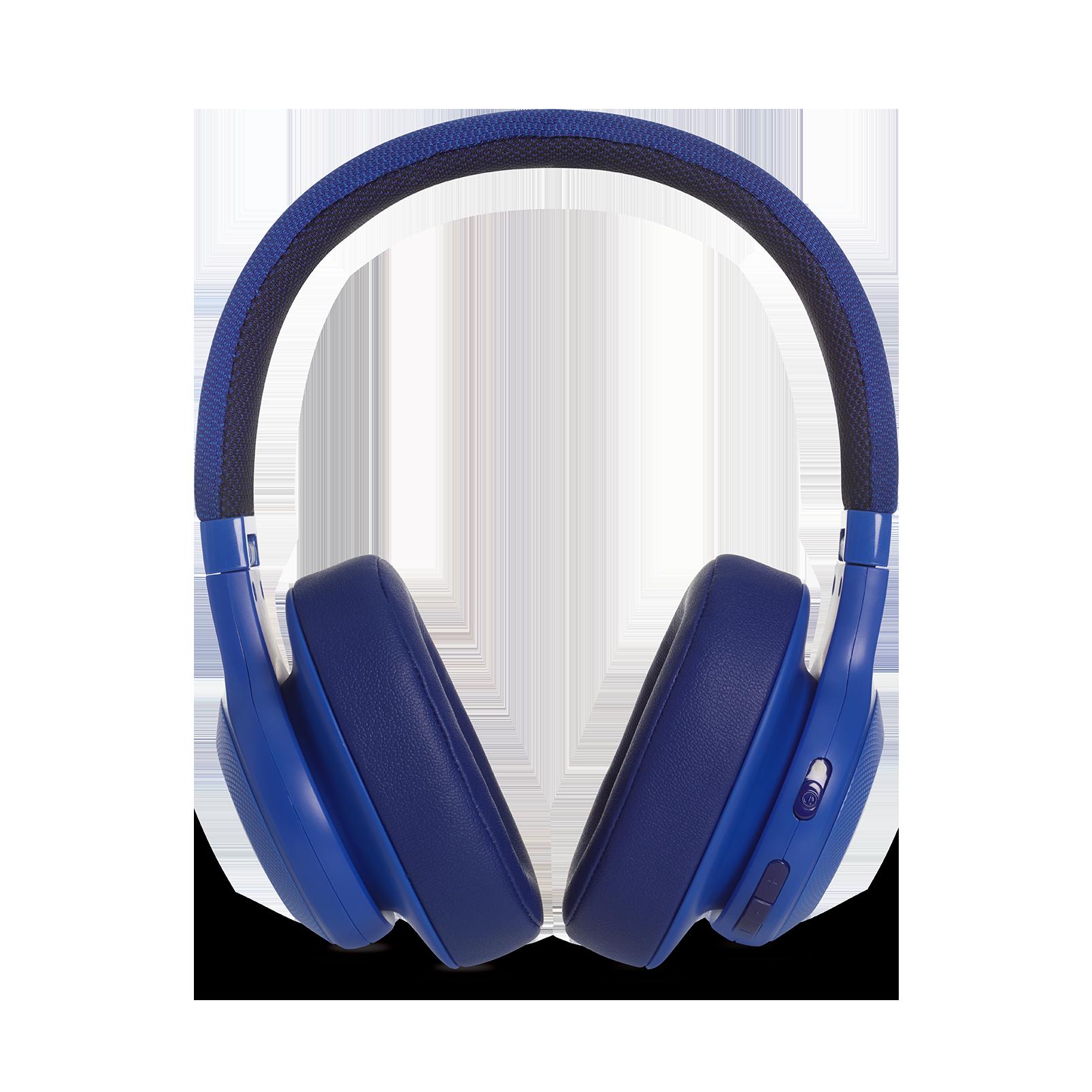 JBL E55BT - Blue - Wireless over-ear headphones - Detailshot 4
