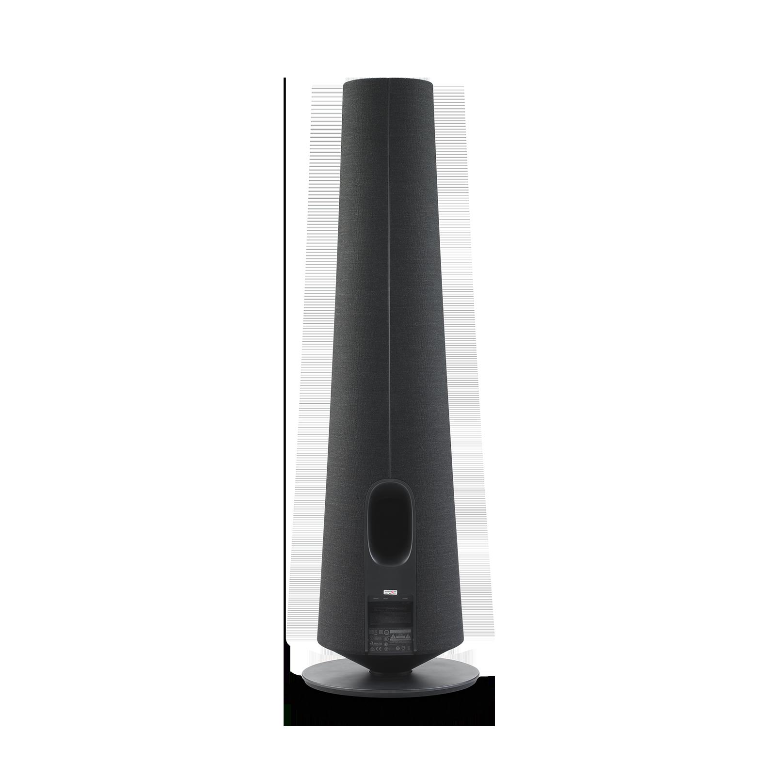 Harman Kardon Citation Tower - Black - Smart Premium Floorstanding Speaker that delivers an impactful performance - Back