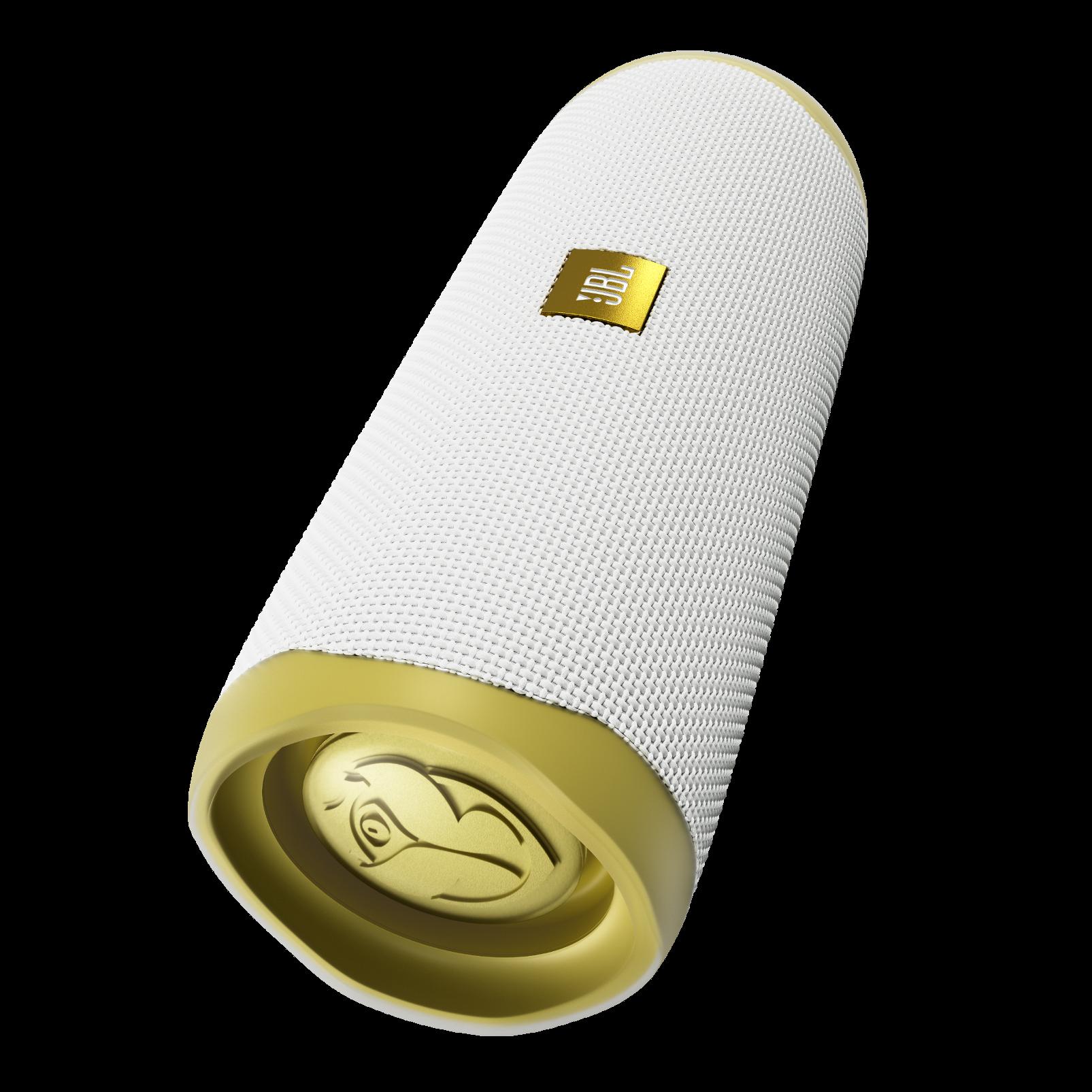 JBL Flip 5 Tomorrowland Edition - Gold/White - Portable Waterproof Speaker - Hero