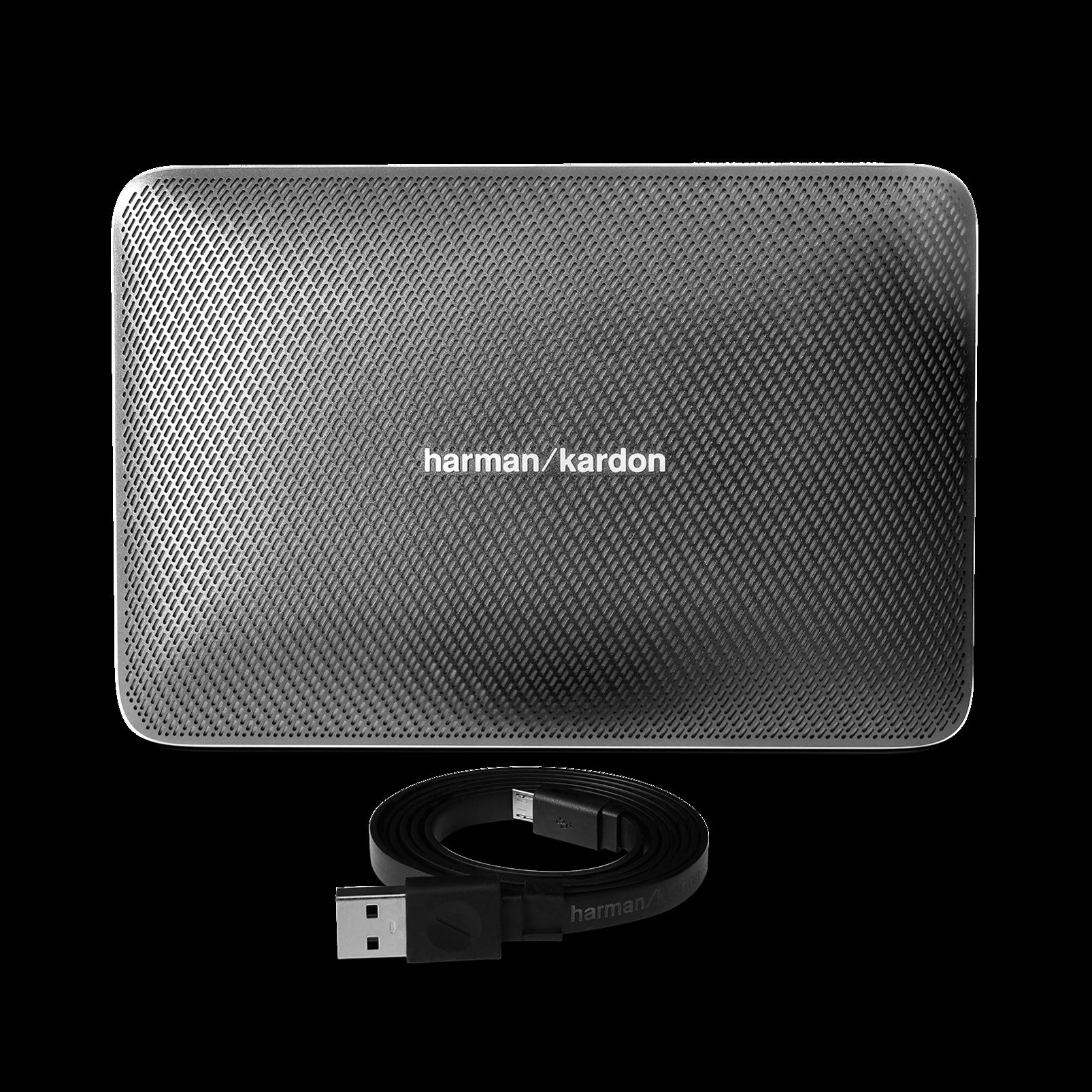 Esquire 2 - Grey - Premium portable Bluetooth speaker with quad microphone conferencing system - Detailshot 1