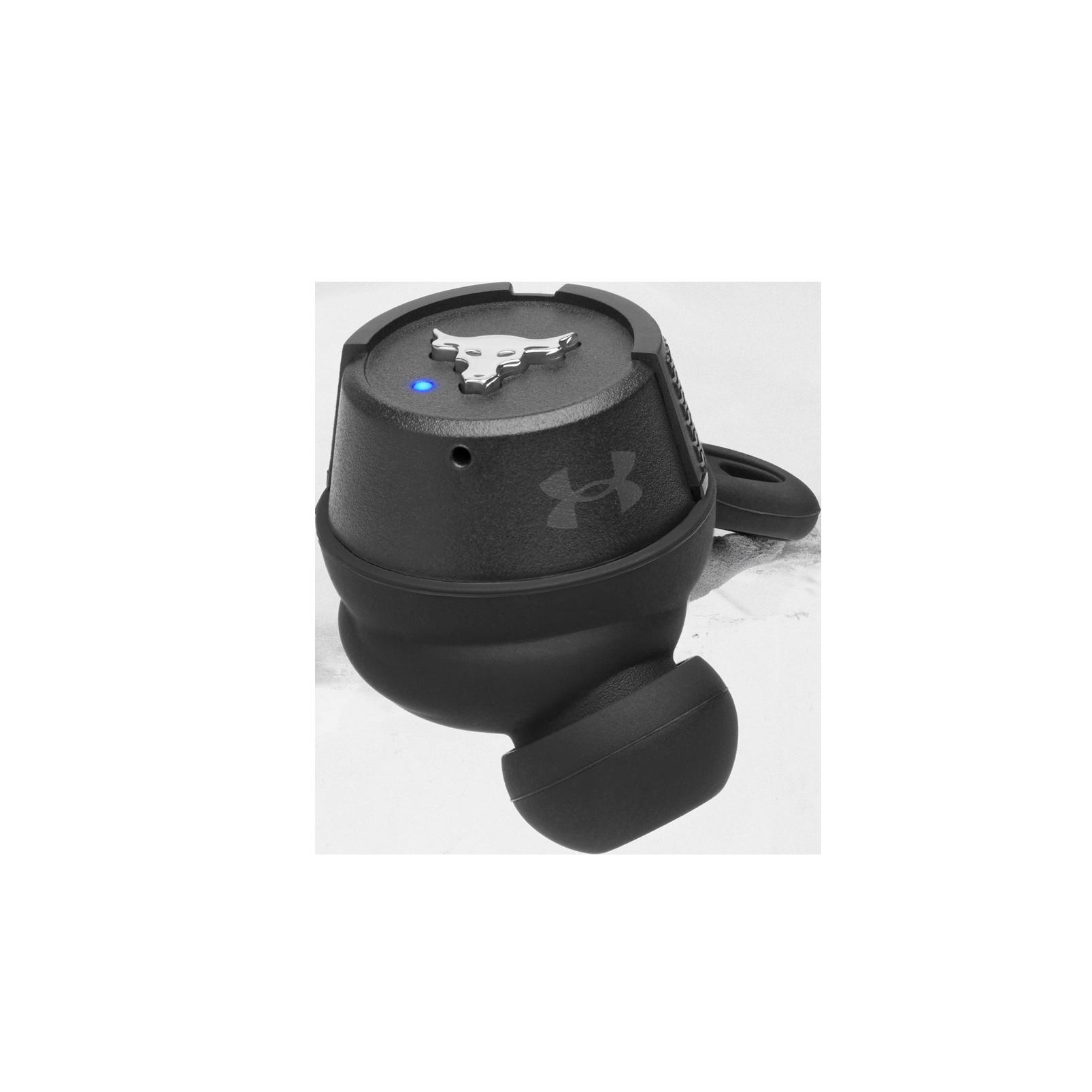 UA Project Rock True Wireless X - Engineered by JBL - Black - Waterproof true wireless sport earbuds - Detailshot 4