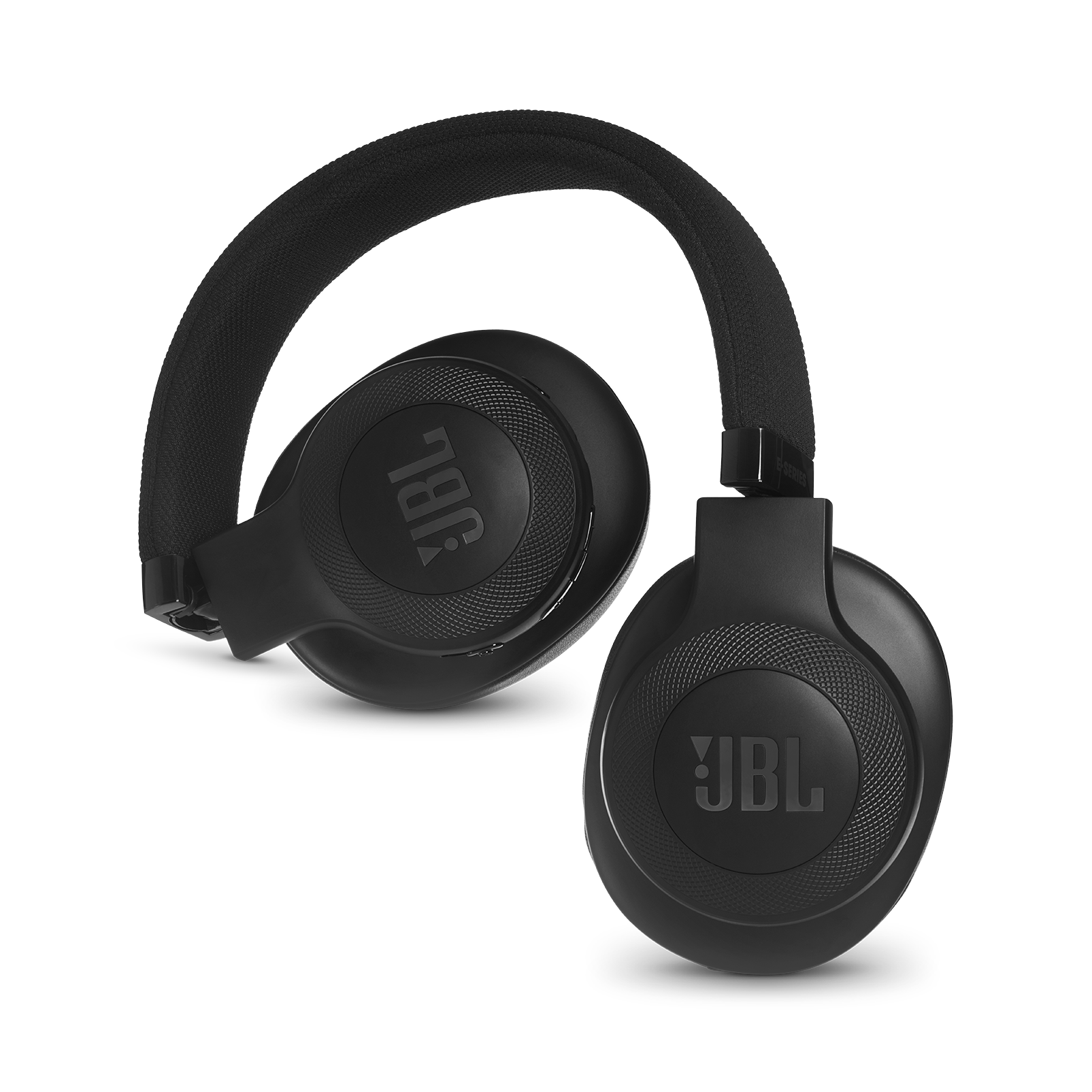 JBL E55BT - Black - Wireless over-ear headphones - Detailshot 1