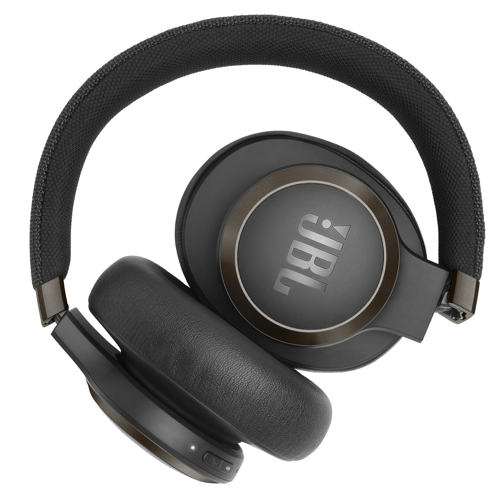 JBL LIVE 650BTNC - Black - Wireless Over-Ear Noise-Cancelling Headphones - Detailshot 6